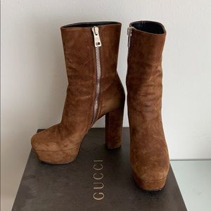 Gucci Suede Platform Boots